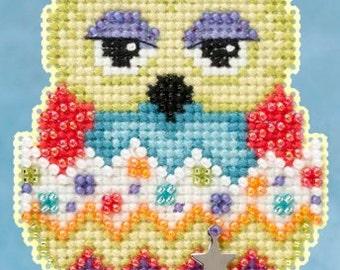 25% OFF SALE! MH165103 Kiwi Kit Mill Hill Owlet Kit Beaded Kit Beaded Ornament Kit Charmed Ornament Kit