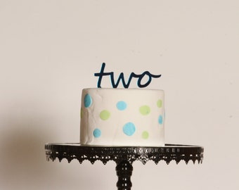 Second birthday cake topper Acrylic Birthday Cake Topper 2nd Birthday Cake Topper boys birthday girls birthday decorations two year old