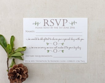 Woodland Walk Wedding RSVP A6