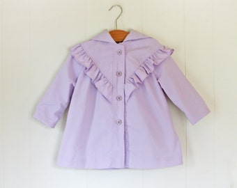 Girls Light Spring Jacket // Size 3T Vintage Lavender Girls Coat