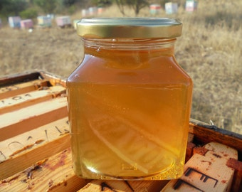 Greek Raw Honey, Organic honey from orange blossoms, thyme, windflowers. Unprocessed Honey 13.4 0z ( 380 gr.) Only 1 left!!!