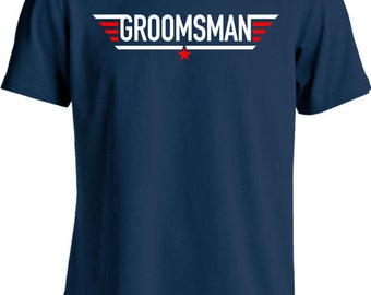 Funny Wedding Shirt Groomsman T Shirt Gifts For Groomsman Bachelor Party T-Shirt Joke Mens Tee MD-436