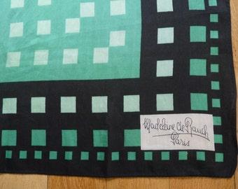 MADELEINE RAUCH - silk scarf - 60s / 70
