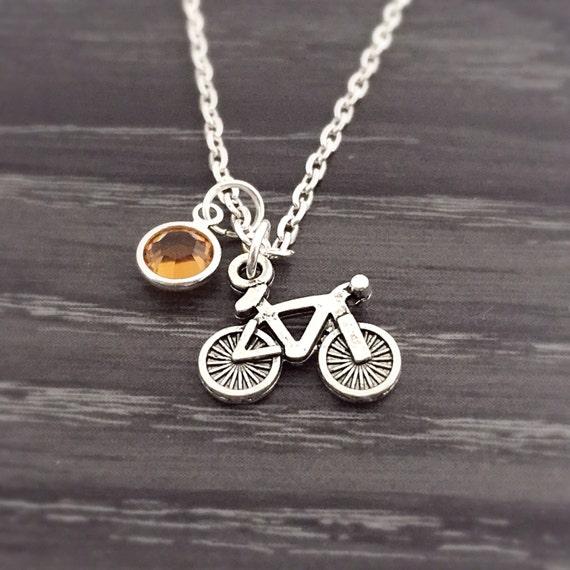 topaz swarovski bike necklace sports jewelry cycling
