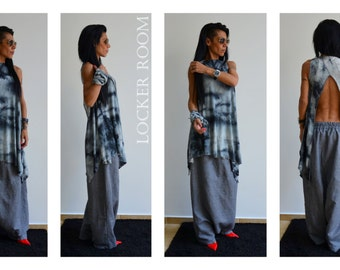 Grey linen pants, Loose Linen Pants, Linen Pants, Baggy Linen Pants, Extravagant Pants, Linen Casual Pants, Harem Loose Pants