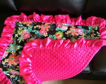 Ruffle Baby Blanket - Custom - Girl