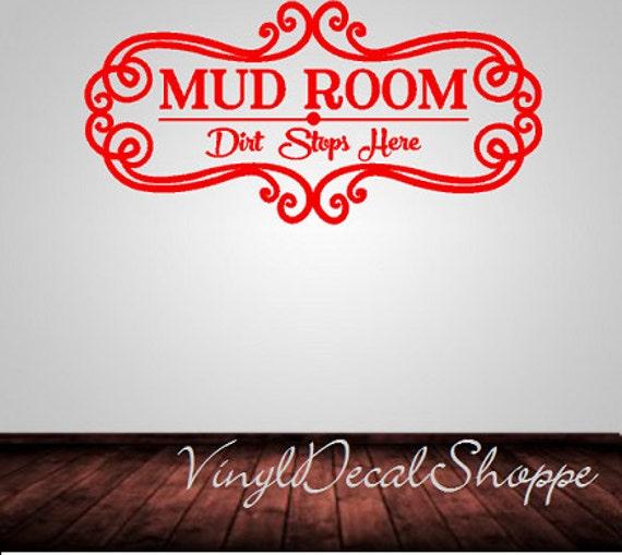 Items similar to wall decor mud room mud room wall decal for Room decor embellishment art