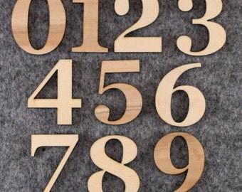 Wooden Number Set Georgia Font
