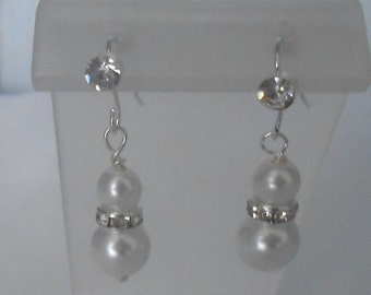 dainty brides or bridesmaid's earrings