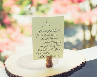 Table Card with Names