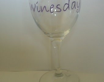 its winesday wine glass