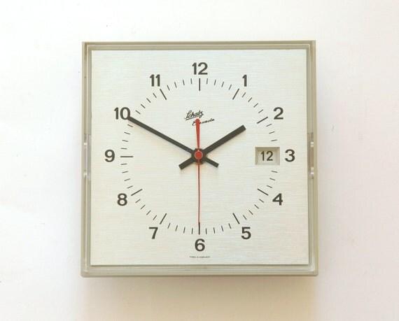 60s Schatz Space Age Date Wall Office Clock Panton Bauhaus