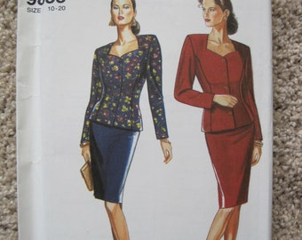 UNCUT Misses' Skirt And Unlined Jacket - Simplicity 9835 - Vintage 1990