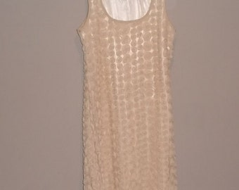 beige rose dress