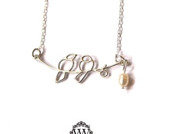 Love Bird Pearl Necklace