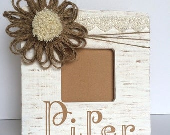 Personalized Photo Frame, Rustic Frame, Picture Frame, Name Frame, Custom Frame