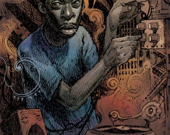 Pete Rock A3 Lithograph Print