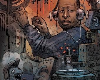 DJ Premier A3 Lithograph Print
