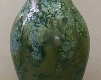 Moss Creek Home Decor Vase--Hand-Painted--Glazed Ceramic Bisque--Home-Patio-Garden Decor--Seasonal-Year Round Usage