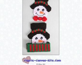 Snowman Coaster Set-Plastic Canvas Pattern-PDF Download