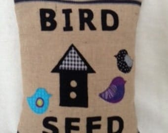 "Feed Bag Style ""Bird Seed"" Pillow Cover 20X26"