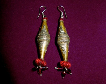 Kuchi Banjara Gypsy Tribal Jewelry Elegant Ethnic Earrings Brass Alloy