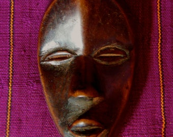 Dan Tribal Passport Mask Worn For Identification Cote d'Ivorie African Ethnic Art