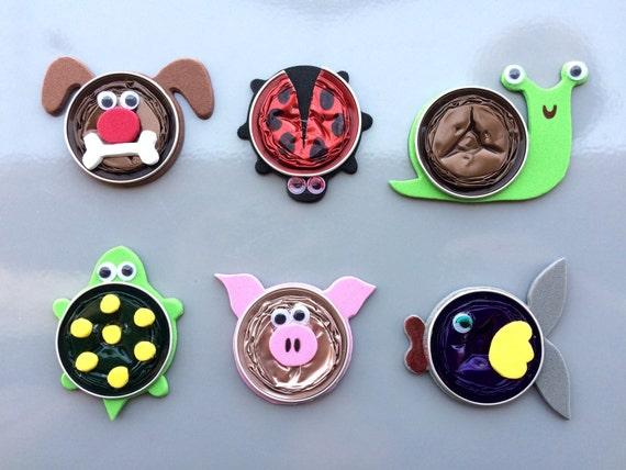 items similar to cute animal fridge magnets nespresso. Black Bedroom Furniture Sets. Home Design Ideas