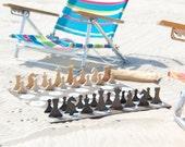 Beach Chess Set, Wood Chess Set, Hand Crafted Chess Set