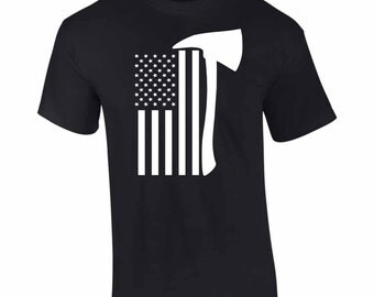 On Sale - American Firefighter Flag  T-Shirt