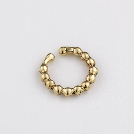 Fake Brass Septum Ring. indian septum ring. faux septum. fake septum piercing.