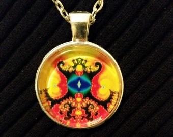 Bright Eye Fractal Necklace