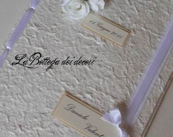 Book signatures/guest book/Guestbook for Wedding, handmade