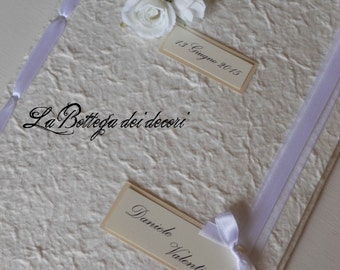 Book signatures/guestbook/guestbook for wedding, handmade
