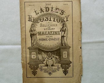 1868 Magazine 'The Ladies Repository', Literary, Religious, Fiction, Poetry, Crafts