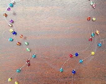 Multicolour Floating Necklace