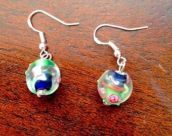 Rose Glass Earrings