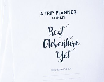 Printable Travel Planner • Minimalist • Half letter • 27 pages