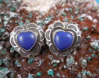 Blue Lapis Sterling Earrings