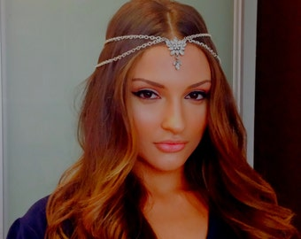 head chain headpiece exotic head jewelry