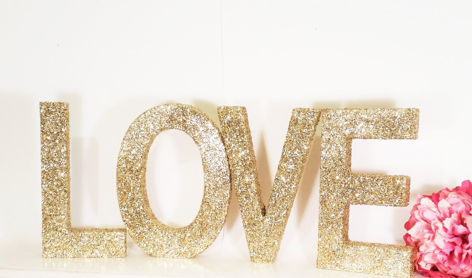 LOVE Sign Wood Letters Wedding Sign Gold Wedding By LimeAndCo