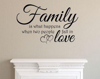 Family Two People Fall in Love Wall Decal Sticker