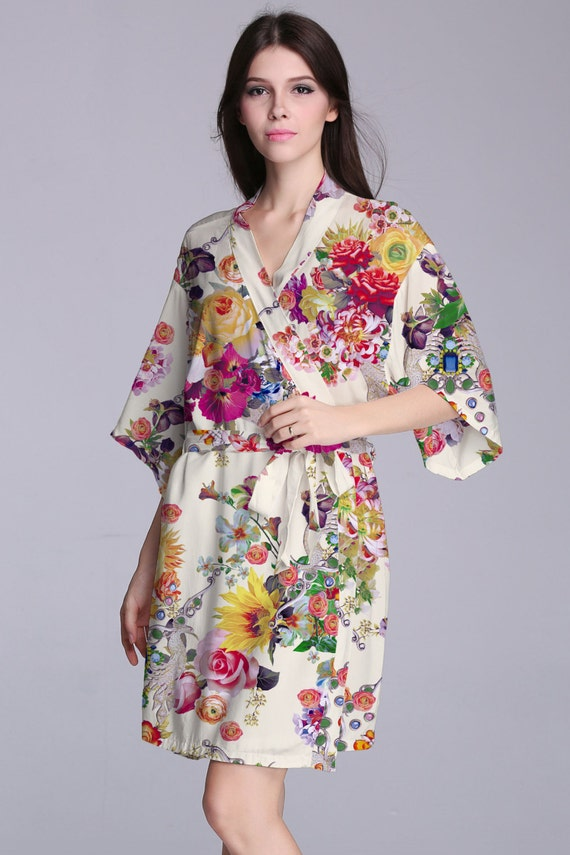 bridesmaid robes embroideredkimono wrap topcheap by SoftRobe