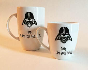 Fathers Day Mug - Dad I Am Your Son/Daughter - Darth Vader Mug