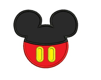 Mickey Mouse Applique - 3 sizes Instant Download