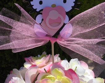 Kitty Inspired Baby Shower Centerpieces- Set of 6