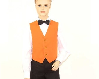 Kids Orange Full Back Dress Vest