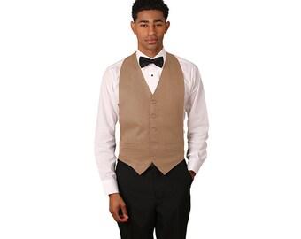 Unisex tan backless vest