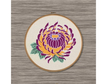 Chrysanthemum  - PDF Cross Stitch Pattern