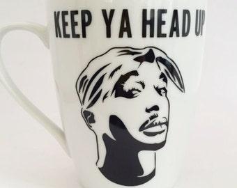 Tupac Shakir -Keep Ya Head Up  - Classic Hip Hop - Rap -  Mug